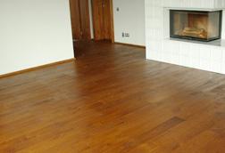 Podłoga drewniana, lita deska podłogowa - dąb